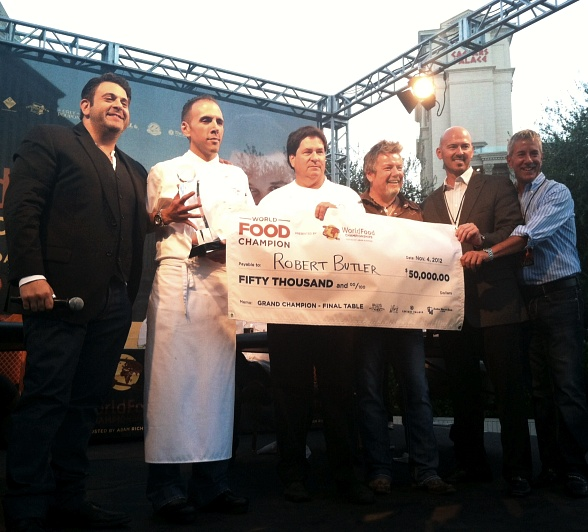 Chefs Butler and McCain Accepting WFC Winning Prize of 50k