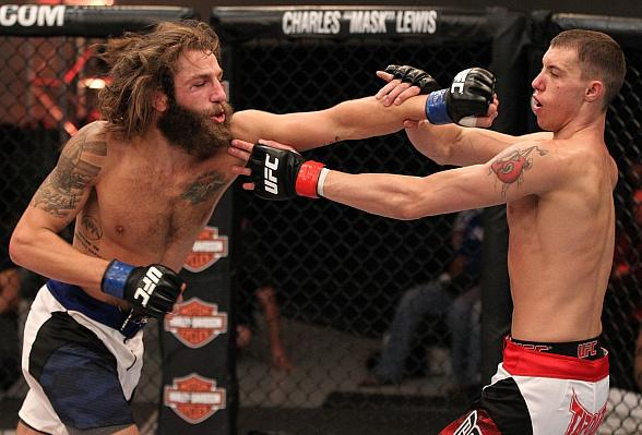 Michael Chiesa defeated James Vick (pictured above) by knockout at 1:55 of the 2nd round 