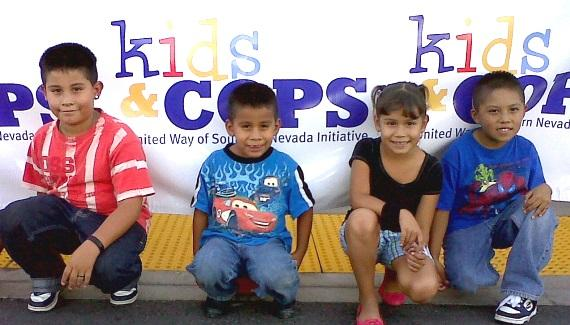 Children at United Way's Kids & Cops event at Walmart September 9, 2010