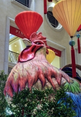 The Venetian and The Palazzo Las Vegas Feature Majestic Rooster and Dragon in Chinese New Year Art Installation
