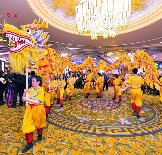 Chinese New Year celebration at The Venetian and The Palazzo