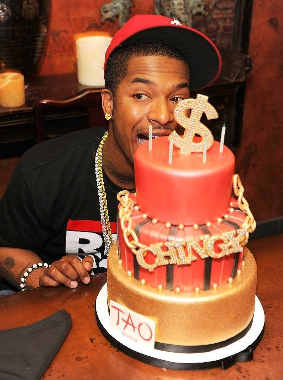 Chingy with cake