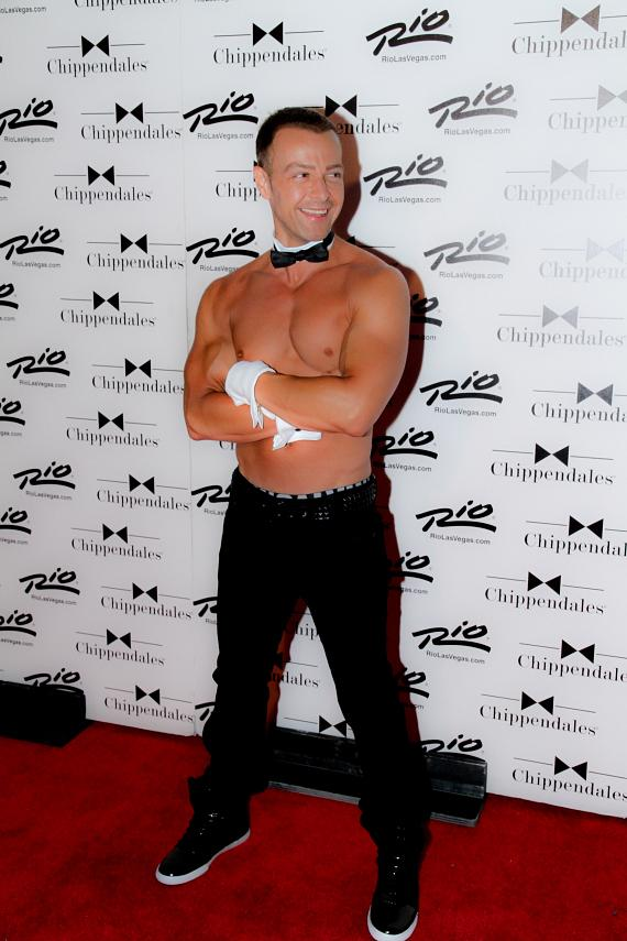 Joey Lawrence on Red Carpet at Chippendales