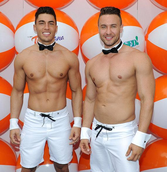 Chippendales' Ryan Stuart and Jon Howes at the grand opening of Xposed! at Tropicana Las Vegas