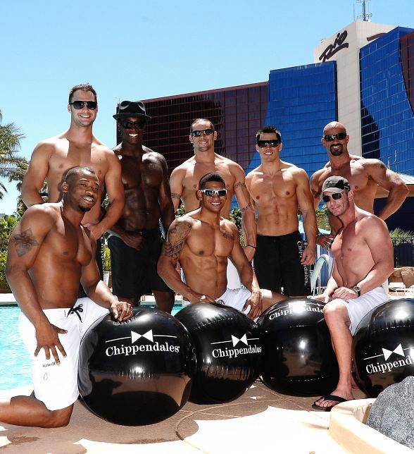 Chippendales soak in the sun at The Voo pool at Rio