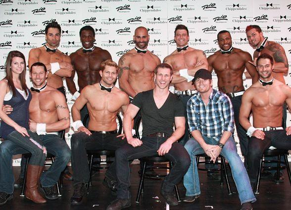 Cody Collins Attends Jake Pavelka's Final Performance at Chippendales