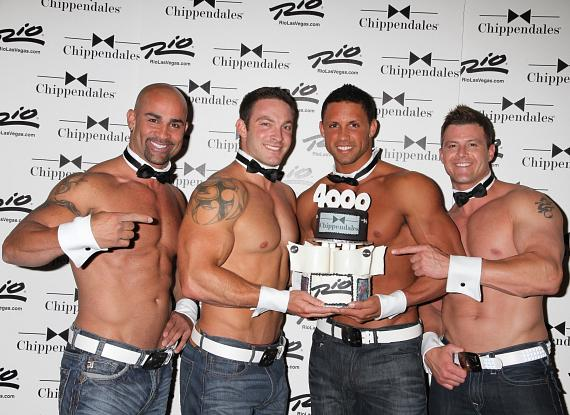 Chippendales John Rivera, J.J. May, Matt Marshall and Nathan Minor