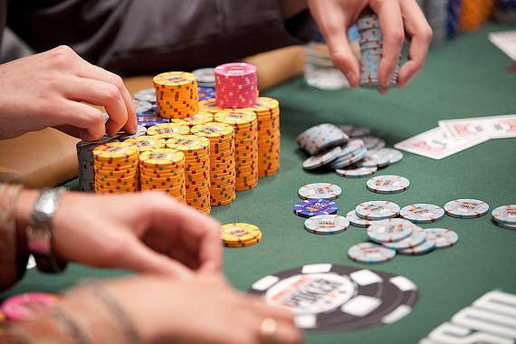 Chips in play at WSOP