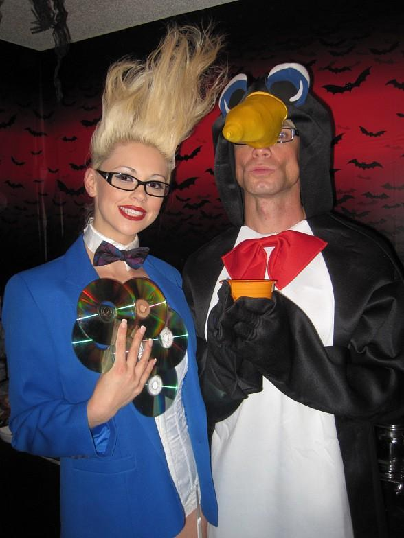 Chloe and Murray SawChuck Celebrate Halloween with Zowie Bowie and Lydia Ansel