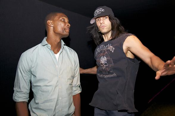 Chris Bosh and Criss Angel