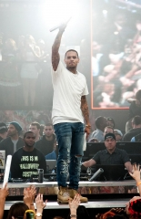 Chris Brown Closes Out Halloween Weekend at Drai's Nightclub in Las Vegas