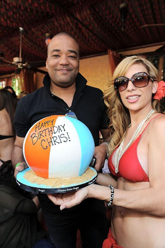 Chris Lighty celebrates his birthday at TAO Beach