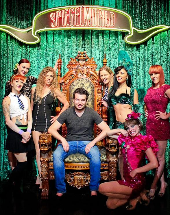 Chris Moorman with the Ladies of ABSINTHE