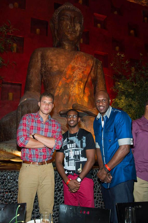 Chris Paul, Blake Griffin, Lamar Odom at TAO Buddha