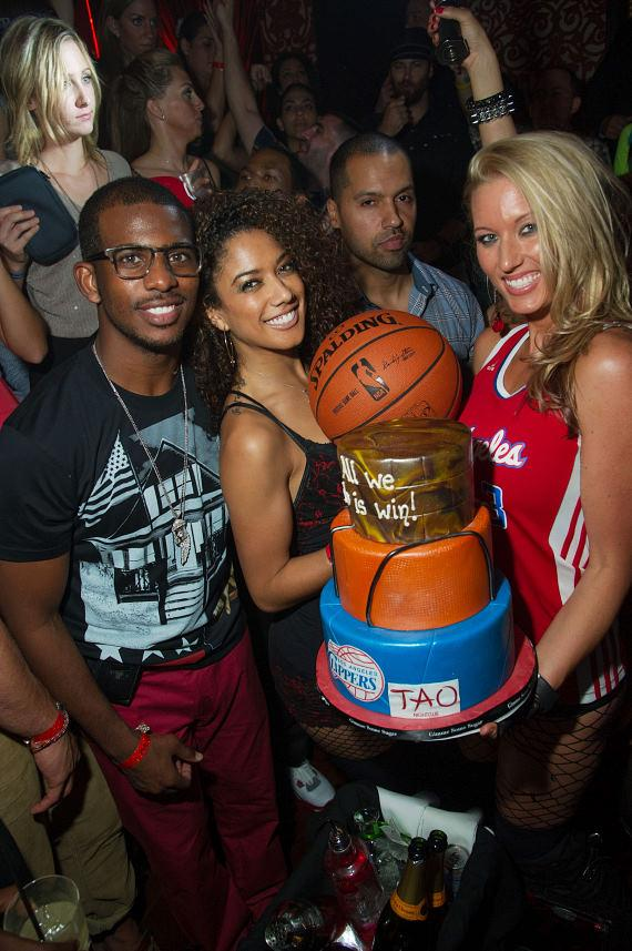 Chris Paul with TAO Cake