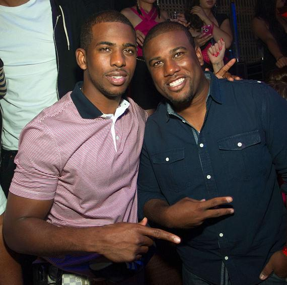 Chris and CJ Paul at LAVO