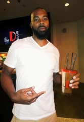 Former NBA star Chris Wilcox dines downtown at the D Casino Hotel Las Vegas