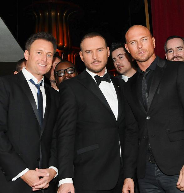 Bachelor Host Chris Harrison and Luke Goss Take in Matt Goss' Show at Caesars Palace