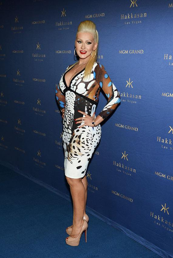 Christina Aguilera arrives at Hakkasan 2-Year Anniversary Party