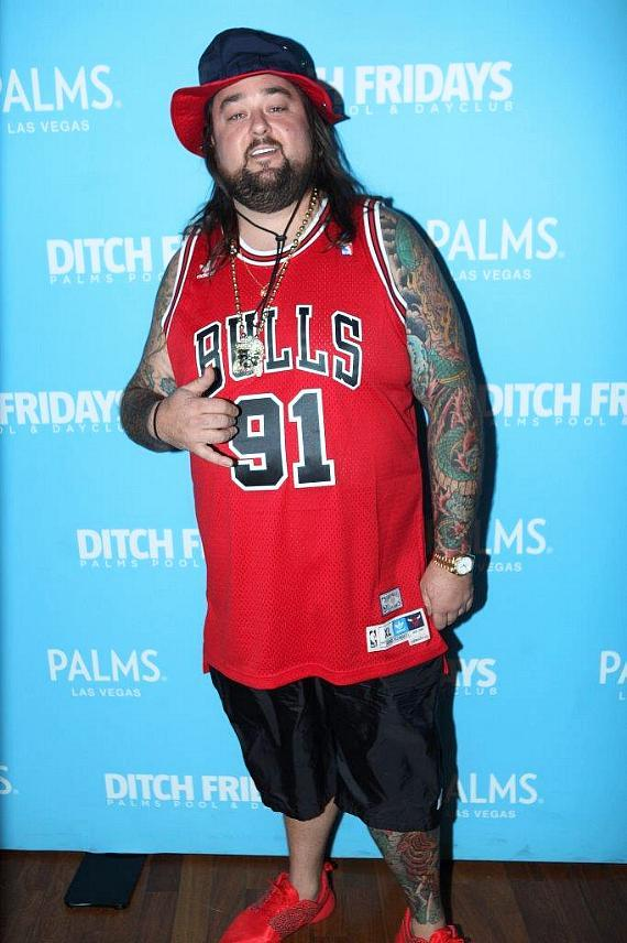 Chumlee Arrives at Palms Pool & Dayclub