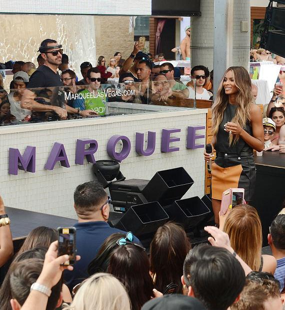 Ciara performs at Marquee Dayclub