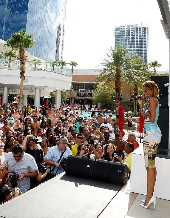Ciara performs live at ditch pool dayclub at palms for Pool spa patio show las vegas