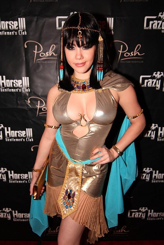 Claire Sinclair on the red carpet at Posh Boutique Nightclub inside Crazy Horse III