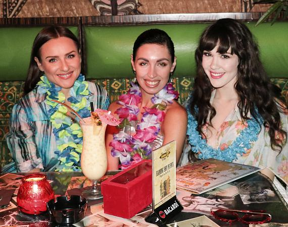 Claire Sinclair celebrates at The Golden Tiki with friends