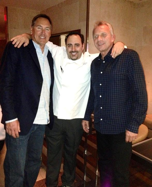 Dwight Clark, Chef Barry Dakake and Joe Montana