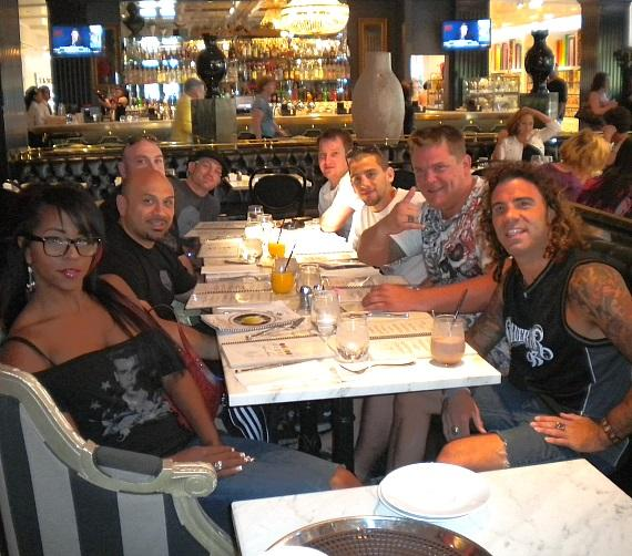 Clay Guida enjoying his time at Sugar Factory American Brasserie