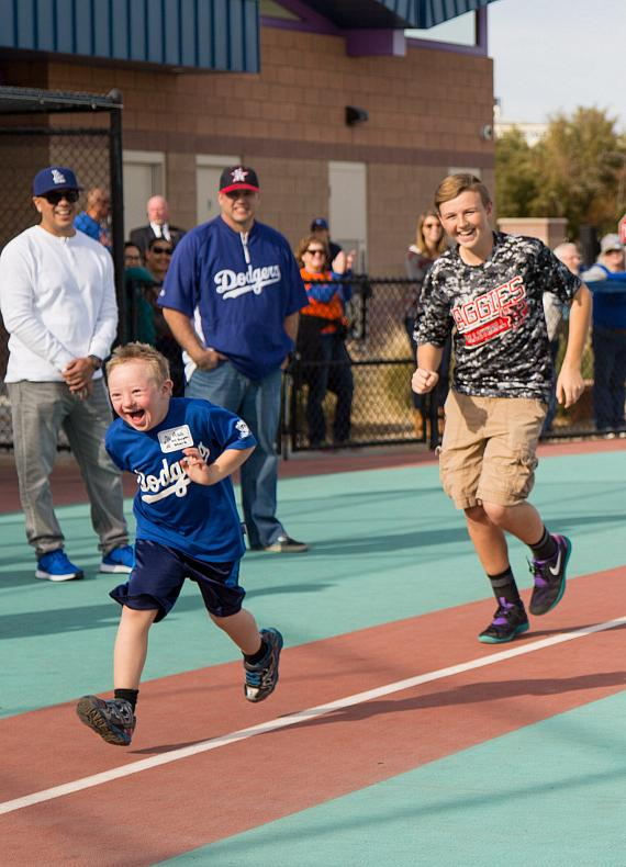 Player at The Miracle League of Las Vegas