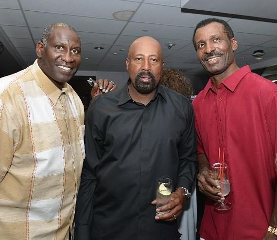 Cliff Livingston, Coach Woodson and Eddie Johnson