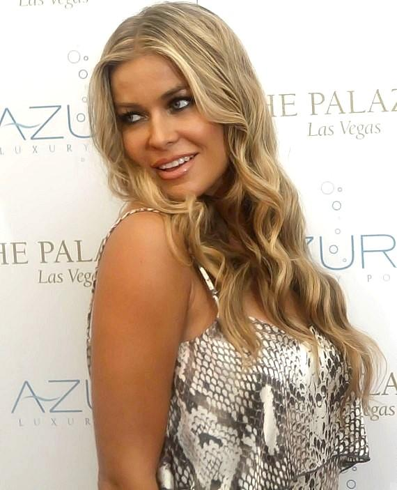 Carmen Electra at Azure Luxury Pool at The Palazzo