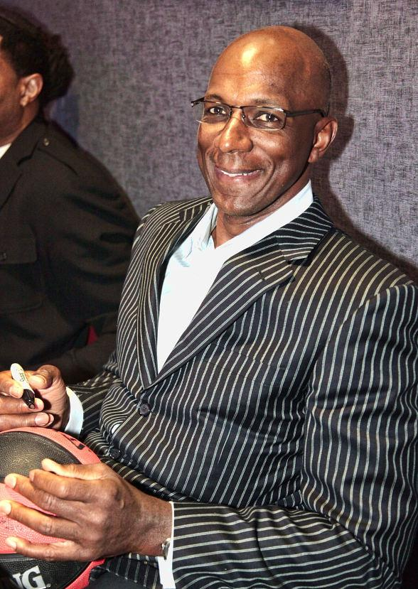 Clyde Drexler at Lagasse