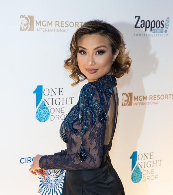 Co-host of 'The Real' Jeannie Mai at 'One Night for ONE DROP'