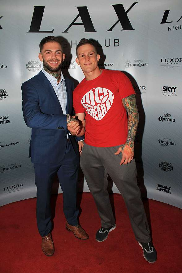 "Cody ""No Love"" Garbrandt and Erik ""New Breed"" Koch celebrate UFC Fight Night victories at LAX Nightclub"