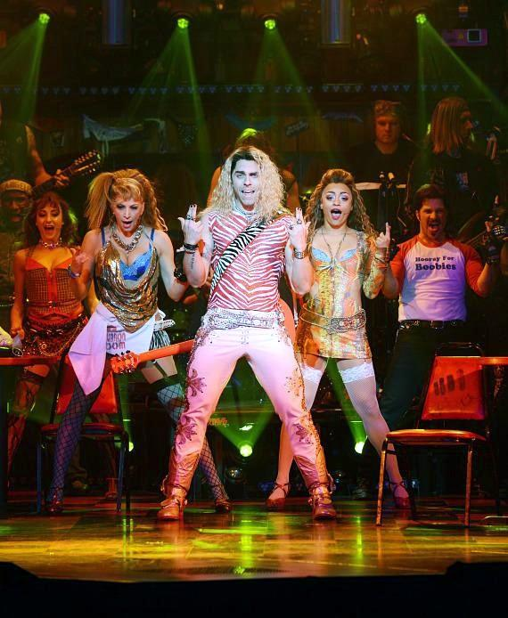 Colt Prattes as Stacee Jaxx and Company in Rock of Ages Las Vegas