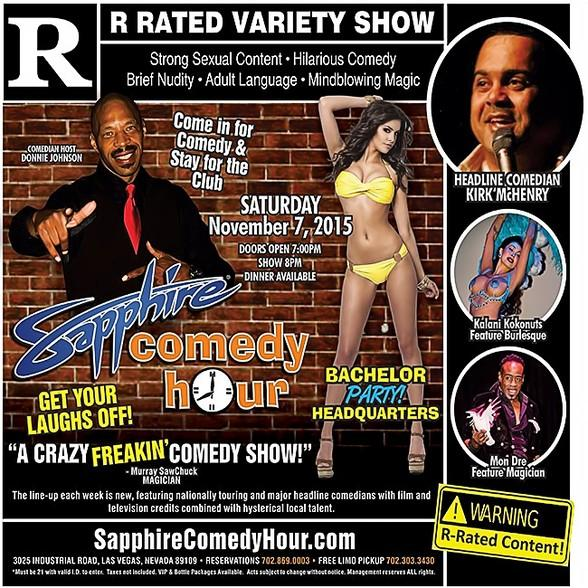 Kirk McHenry to Headline Sapphire Comedy Hour on Nov. 7 with Donnie Johnson, Kalani Kokonuts and Mon Dre!