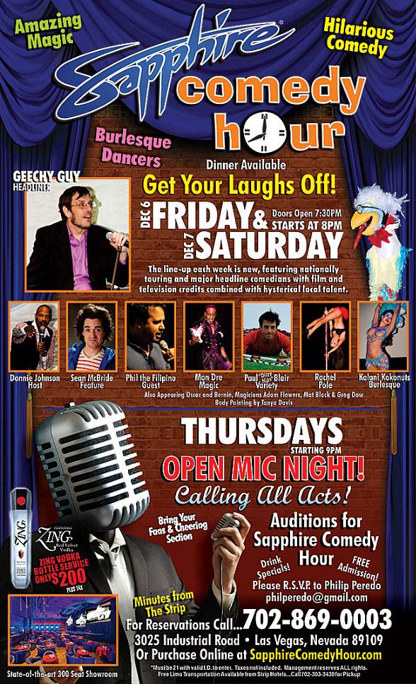 Geechy Guy to Headline Sapphire Comedy Hour at Sapphire Las Vegas Friday, Dec. 6 and Saturday, Dec. 7
