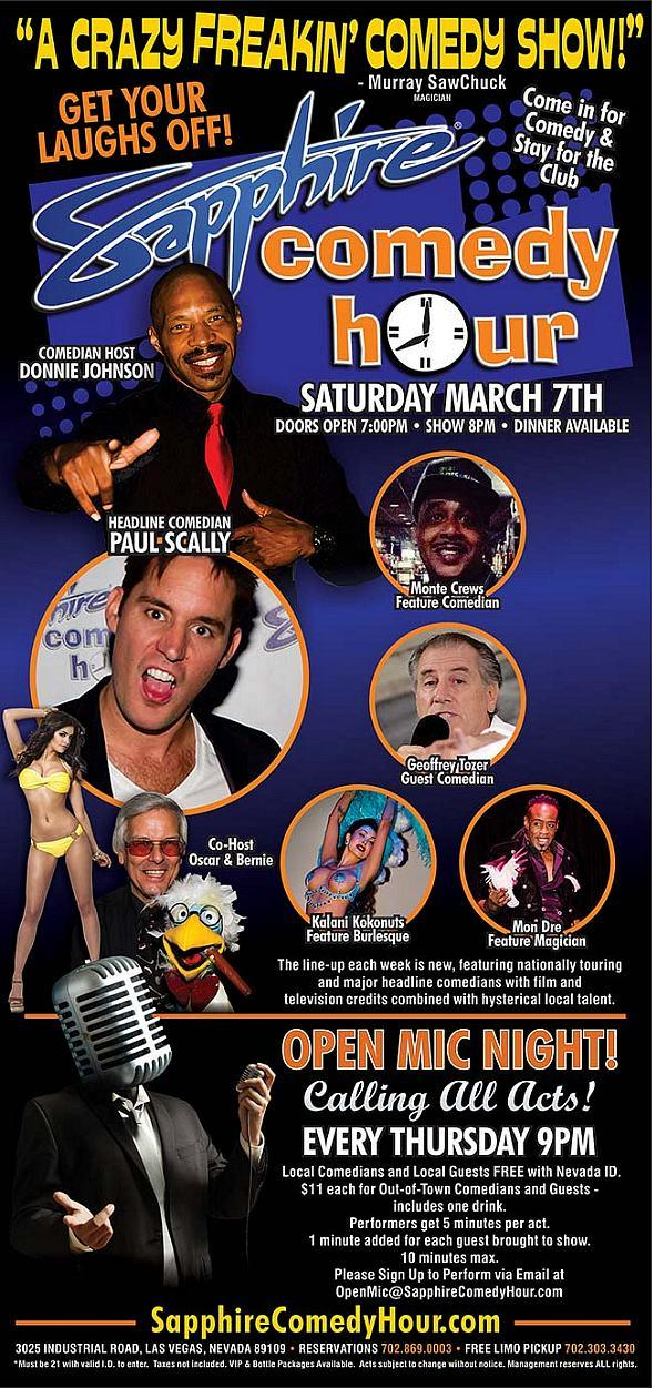 Comedian Paul Scally to Headline Sapphire Comedy Hour, Saturday March 7