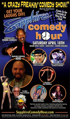 Comedian Adee to Headline Sapphire Comedy Hour, Saturday April 18