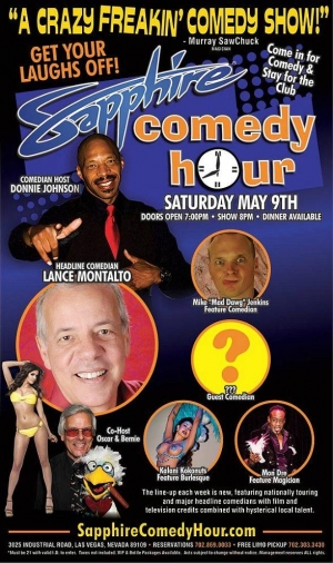 Comedian Lance Montalto to Headline Sapphire Comedy Hour, Saturday May 9