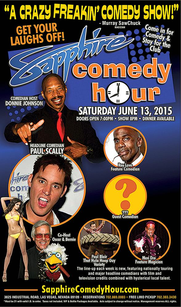 Comedian Paul Scally to Headline Sapphire Comedy Hour, Saturday June 13