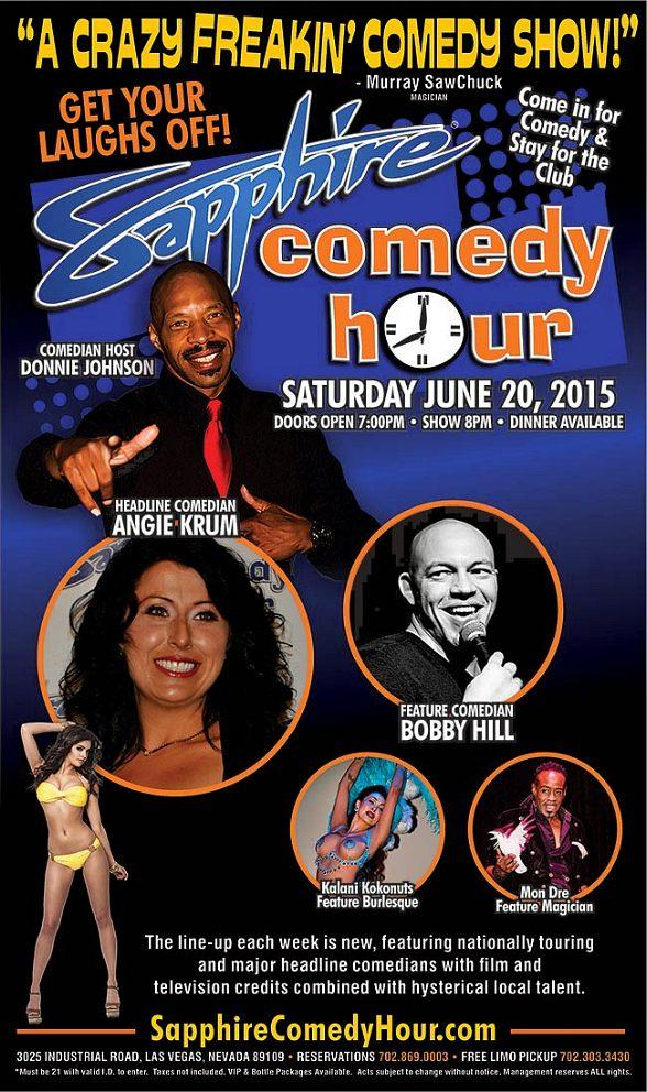 Comedian Angie Krum to Headline Sapphire Comedy Hour, Saturday June 20