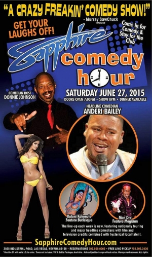 Comedian Anderi Bailey to Headline Sapphire Comedy Hour, Saturday June 27