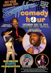 Comedian Cory Robinson to Headline Sapphire Comedy Hour, Saturday July 18
