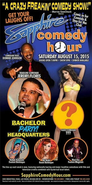 Jeremy Flores to Headline Sapphire Comedy Hour, Saturday August 15