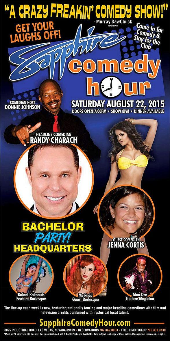 Randy Charach to Headline Sapphire Comedy Hour, Saturday August 22