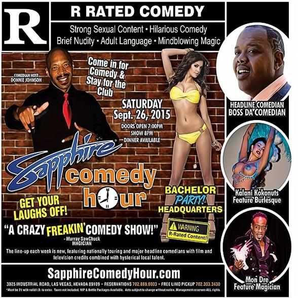 Boss Da Comedian to Headline Sapphire Comedy Hour, Saturday September 26 with Donnie Johnson, Kalani Kokonuts and Mon Dre!