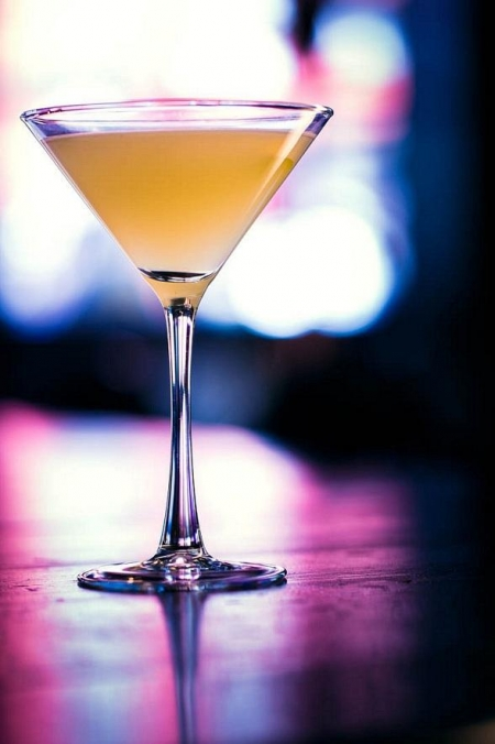 "Commonwealth's January featured cocktail, the ""You Bet Giraffes."""